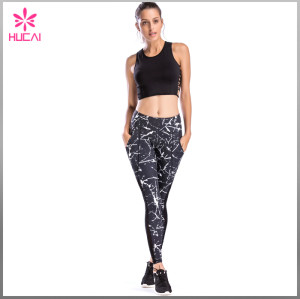 OEM Nylon Spandex Yoga Clothing Dry Fit Custom Crop Top Women