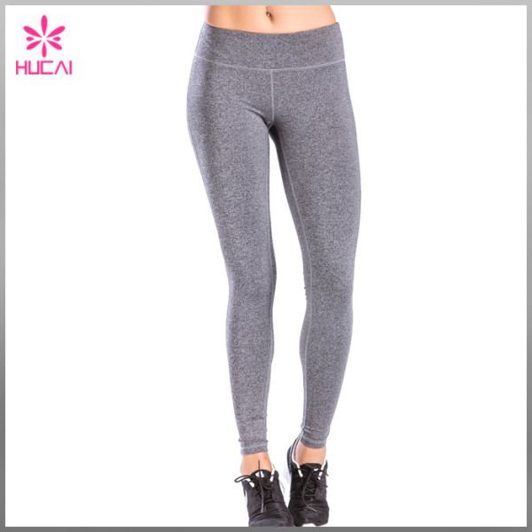 Full Length Nylon Spandex Gym Tights Leggings Dry Fit Yoga Pants Women