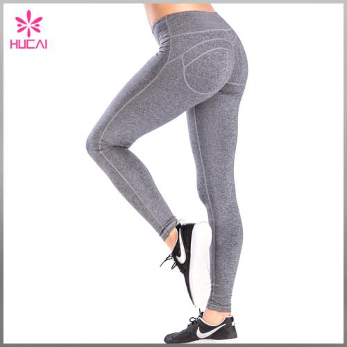 Full Length Nylon Spandex Gym Tights Leggings Dry Fit Yoga Pants Women