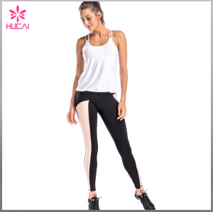 Middle Rise Nylon Spandex Dry Fit Women Running Tights Non See Through