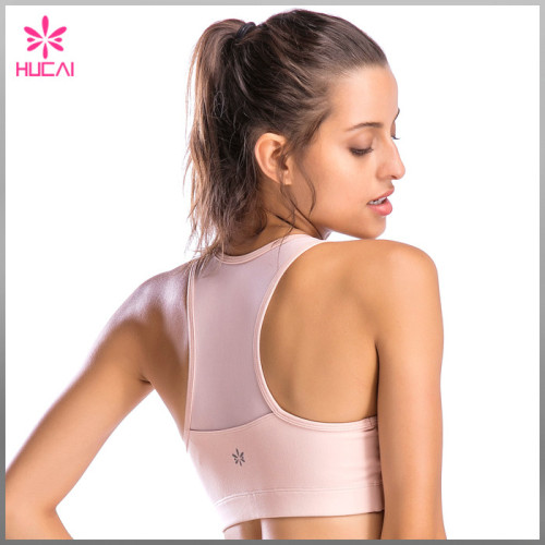 Custom Yoga Wear Sports Clothing Women Mesh Dry Fit Padded Training Bra