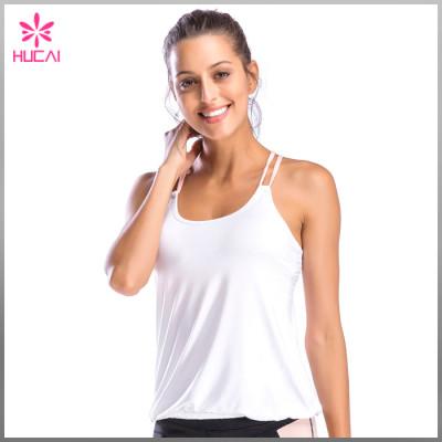 OEM Gym Clothing X Back Running Tank Top Wholesale