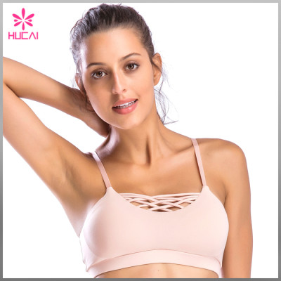 Wholesale Sports Wear Non See Through Dry Fit Women Push Up Yoga Bra