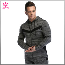 Wholesale Double Faced Sports Clothing Slim Fit Gym Hoodies For Men