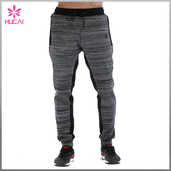 Custom Cotton Polyester Space Dye Slim Fit Men Jogger Pants With Side Pocket