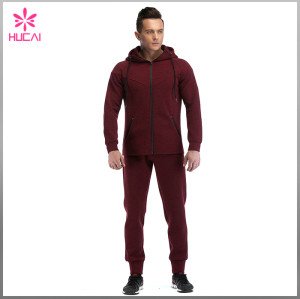 Wholesale Sports Wear Gym Clothing Double Faced Men Tapered Jogger Pants