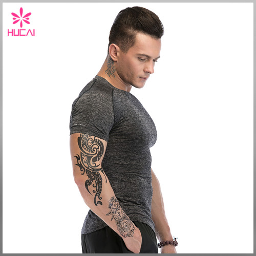 Wholesale Gym Clothing Muscle Fit Mens Dry Fit Running Shirt