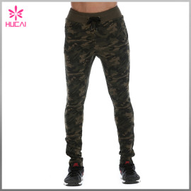 Wholesale Full Length Taper Sweatpants Mens Camo Jogger Pants Outfit