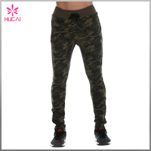 Wholesale Full Length Taper Sweatpants Mens Camo Jogger Pants Outfit