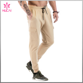 Custom Streetwear Mens Jogger Blank Track Sweat Pants With Side Pocket