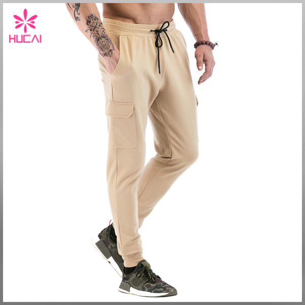 Custom Streetwear Mens Jogger Blank Track Sweat Pants With Side Pocket