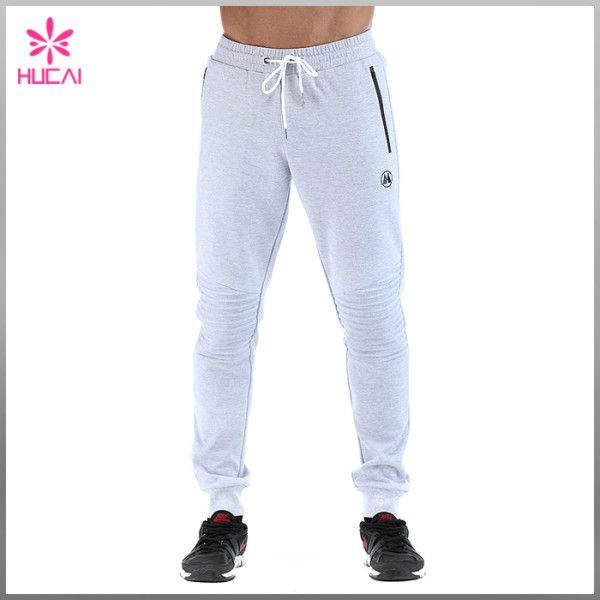 Custom Jogger Sweatpants Men Fleece Track Pants With Side Pocket