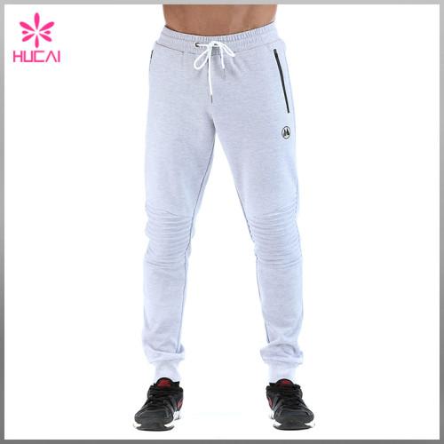 Custom Jogger Sweatpants Men Fleece Track Pants With Side Pocket