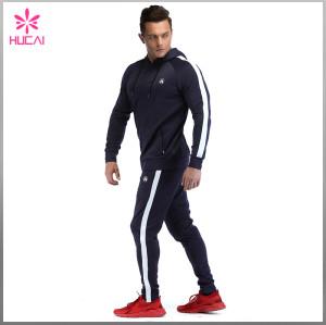 Wholesale Slim Fit Mens Polyester Streetwear Hoodie Blank
