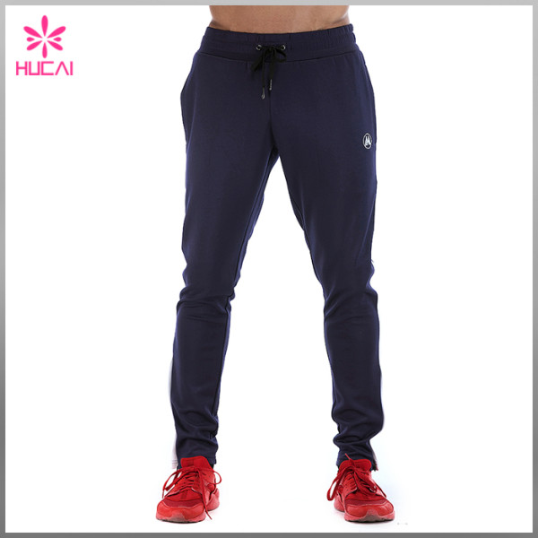 Wholesale Streetwear Jogger Slim Fit Polyester Track Pants Men