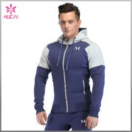 Custom Sweatshirt Cotton Polyester Mens Muscle Fit Gym Hoodie Cheap