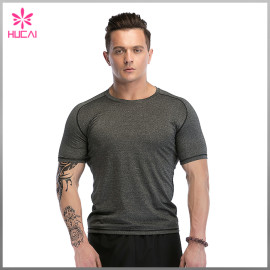 Custom Running Clothing Bodybuilding Mesh Insert Gym Shirts Men Wholesale