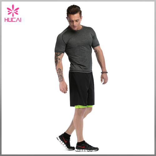 Custom Running Clothing Bodybuilding Mesh Insert Gym Shirts Men Wholesale