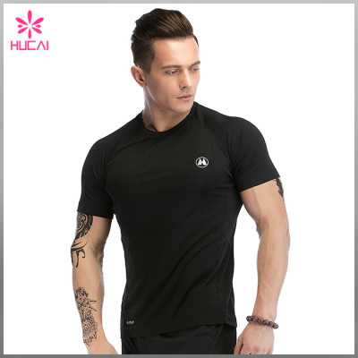 Wholesale Dry Fit Workout Clothing Muscle Fit Gym Tee Shirts Mens