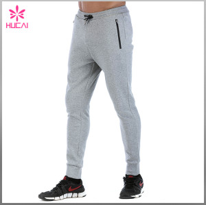 OEM Slim Fit Pants Wholesale Men Jogger French Terry Sweatpants Outfits