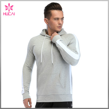 Wholesale Slim Fit Mens Hooded Sweatshirts Custom Design With Zipper