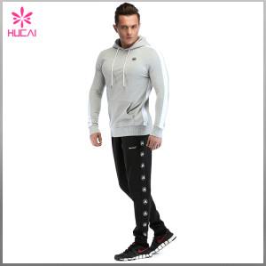 Wholesale Slim Fit Mens Hooded Sweatshirts Custom Design With Zipper