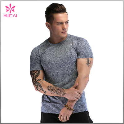 Custom Gym Clothing Mesh Insert Muscle Fit T Shirts Men Wholesale