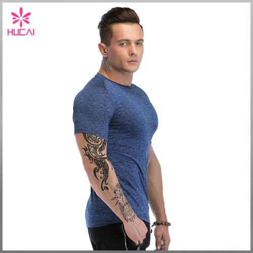 Cheap Custom Dry Fit Raglan Sleeve Mens Compression T Shirt Running