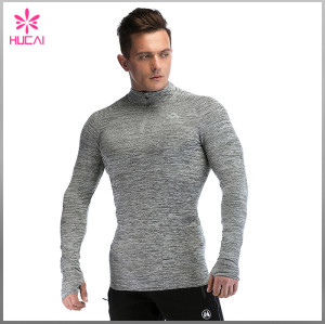 Custom Gym Clothing Dry Fit 1/4 Zip Training Jacket Men