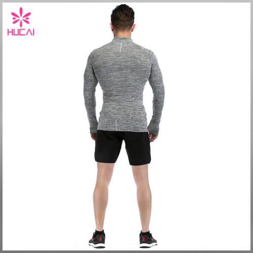 Custom Gym Clothing Dry Fit 1/4 Zip Training Jacket Men