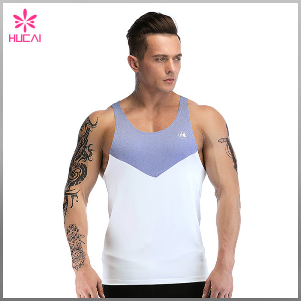 Wholesale Custom Plain Stringer Dry Fit Y Back Mens Gym Singlet