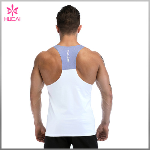 Wholesale Custom Plain Stringer Dry Fit Y Back Mens Gym Singlet