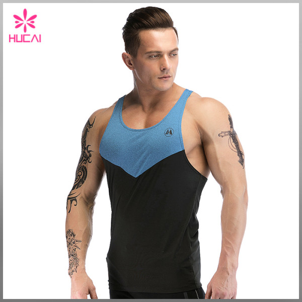 Custom Workout Clothing Mens Plain Stringer Singlet Wholesale Gym