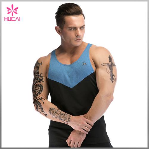 Custom Workout Clothing Mens Plain Stringer Singlet Wholesale Gym