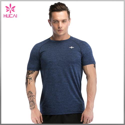 OEM Polyester Spandex Men Plain Slim Fit Atheletic T Shirts Bulk Wholesale