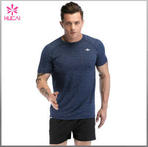 OEM Polyester Spandex Men Plain Slim Fit Atheletic T Shirts Bulk Wholesale
