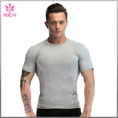 OEM Mesh Insert Raglan Sleeve Dry Fit Muscle T Shirts Mens Wholesale