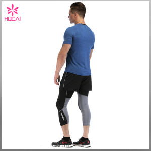Wholesale Dry Fit Gym Tee Short Sleeve Mens Running Shirts With Pocket