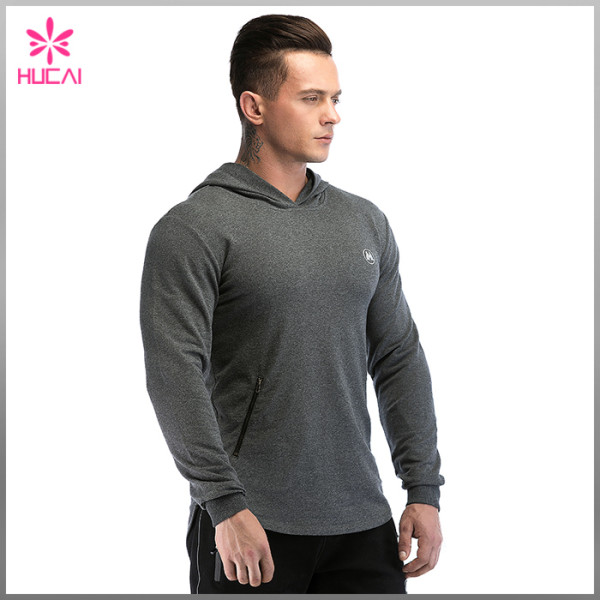 Wholesale Training Apparel Mens Hooded French Terry Bodybuilding Gym Sweatshirts