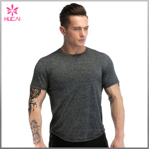 Custom Slim Fit Workout Apparel Mens Round Bottom Running T Shirts