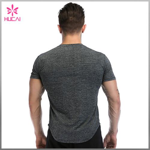 Custom Slim Fit Workout Apparel Mens Round Bottom Running T Shirts