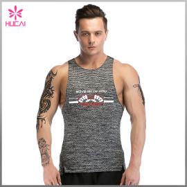 Wholesale Slim Fit Tank Top Dry Fit Mesh Gym Singlet Mens Printing