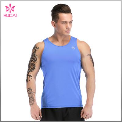 Wholesale Slim Fit Gym Tank Top Mens Dry Fit Running Apparel