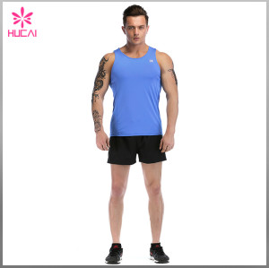 Wholesale Slim Fit Gym Tank Top Mens Dry Fit Running Apparel
