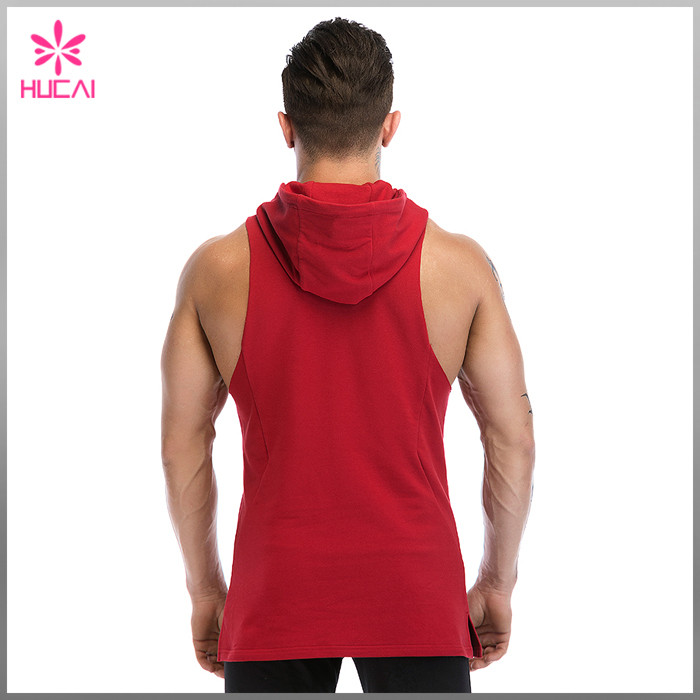 Custom Hooded Sleeveless T Shirt