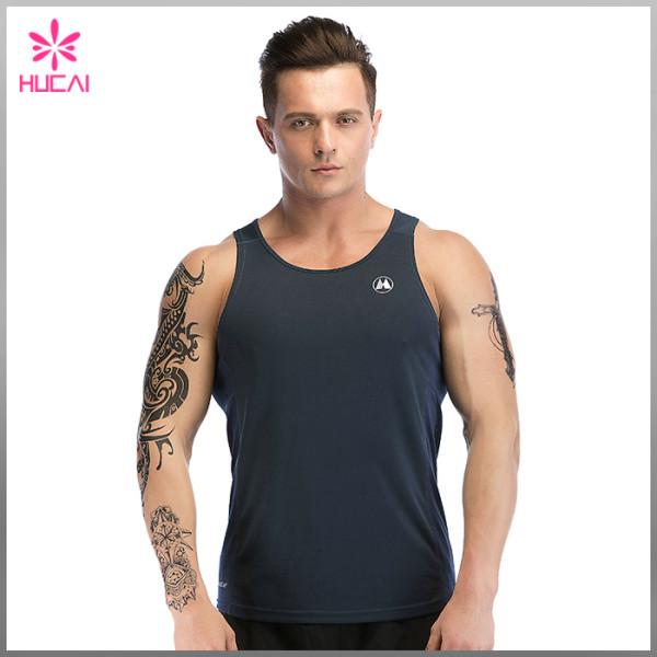 OEM Factory Gym Clothing Mesh Panel Stringer Tank Top Mens Wholesale