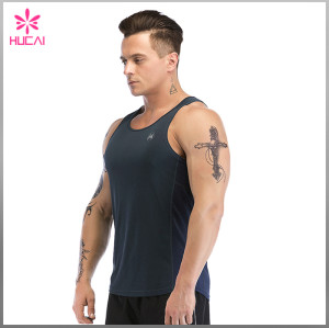 OEM Factory Gym Clothing Mesh Panel Stringer Tank Top Mens Wholesale