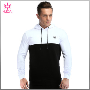 Wholesale Cotton Polyester Blank Pullover Athletic Hoodie Mens Custom