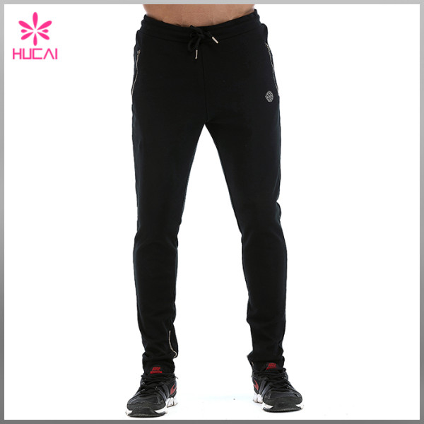 Wholesale Cotton Polyester Jogger Pants Mens Slim Fit Track Sweatpants