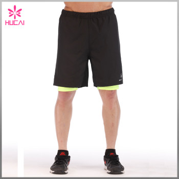 High Quality 100%Polyester Wholesale Mens Gym Shorts With Lining